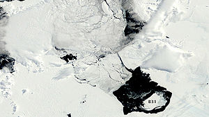 Iceberg B31 - B31 shown at the lower right.