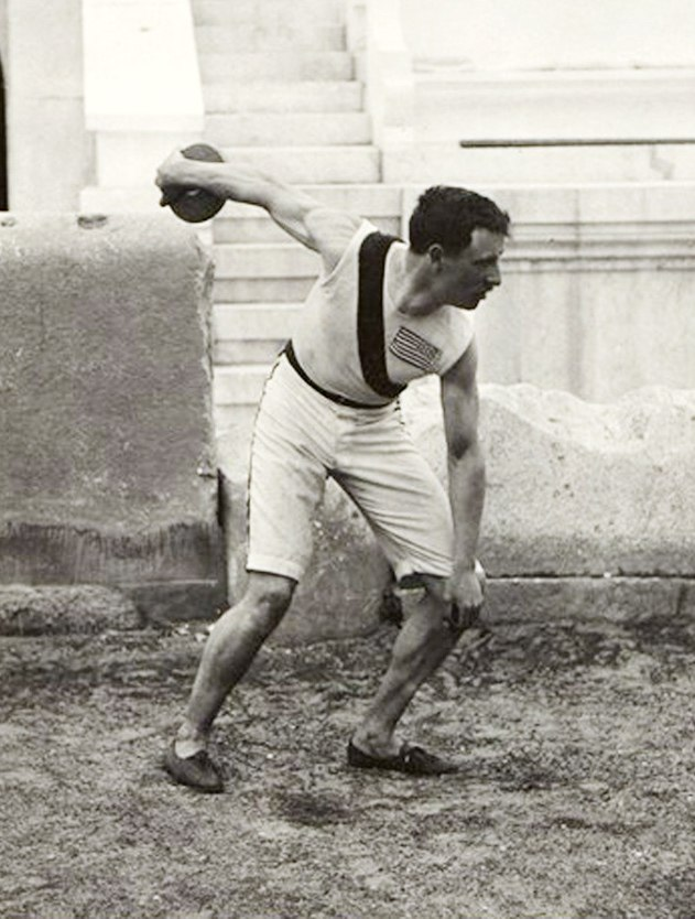 BASA-3K-7-422-22-Robert Garrett throwing the discus at 1896 Summer Olympics