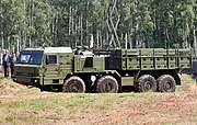 The BAZ-69092-021 towing vehicle for the 5I57A power generator and the 63T6A power converter for the S-400 system.