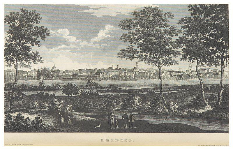 File:BECHSTEIN(1844) p228 Blick auf Leipzig.jpg