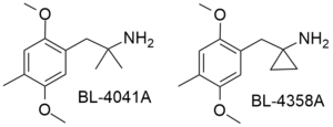 2,5-Dimethoxy-4-methylamphetamine - Image: BL 4041A & BL 4358A