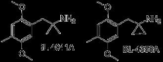 2,5-Dimethoxy-4-methylamphetamine - Image: BL 4041A & BL 4358A