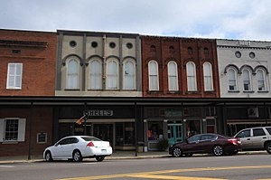 National Register of Historic Places listings in Monroe County, Mississippi - Image: BUILDINGS AT 110 122 EAST COMMERCE STREET, MONROE COUNTY, MS