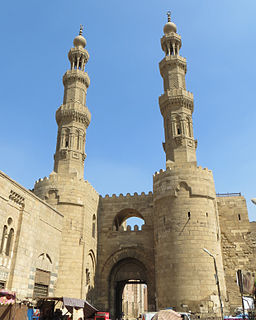 gate in the Old City of Cairo, Egypt