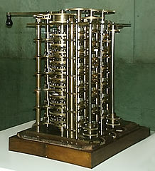 The first difference engine, used as an illustration to the BabbageFaces article on www.beyondjava.net. Source: Wikimedia
