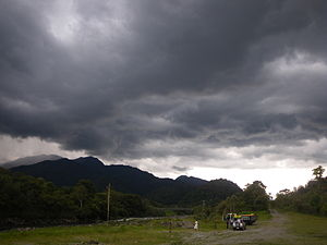 Baeza, Ecuador - The Baeza area receives impressive thunderstorms throughout the year. Photo taken on 22 October 2011.