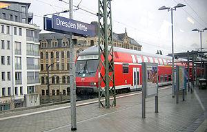 Dresden Mitte station - Image: Bahnhof Dresden Mitte