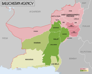 Baluchistan (Chief Commissioners Province) Province of British Empire in India