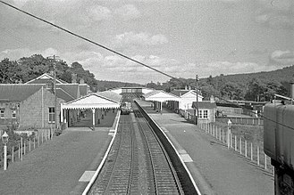 Banchory railway station - September 1961