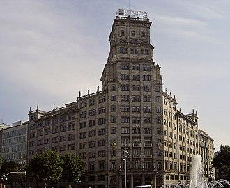 Gran Via de les Corts Catalanes - Banco Vitalicio building