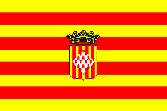La Jonquera - Image: Bandera de la provincia de Gerona
