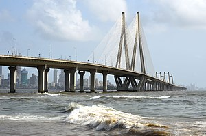 Bandra–Worli Sea Link - Bandra Worli Sea Link from Bandra Fort