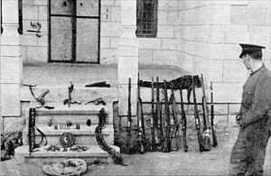 Bani Na'im - Weapons captured by British forces after battling Palestinian Arab irregulars in Bani Na'im during the 1936–39 Arab revolt in Palestine