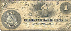 Banknote of the Colonial Bank of Canada.jpg