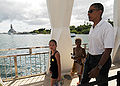 Barack Obama at USS Arizona Memorial 8-14-08 080814-N-9758L-113.jpg