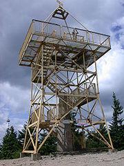 Wieża triangulacyjna na szczycie Baraniej Góry