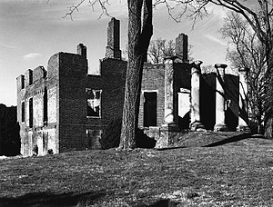 Barboursville (James Barbour) - Barboursville ruin  (photo by United States Department of the Interior)
