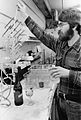 Barney Watson testing wine, circa 1985 (6359775051).jpg