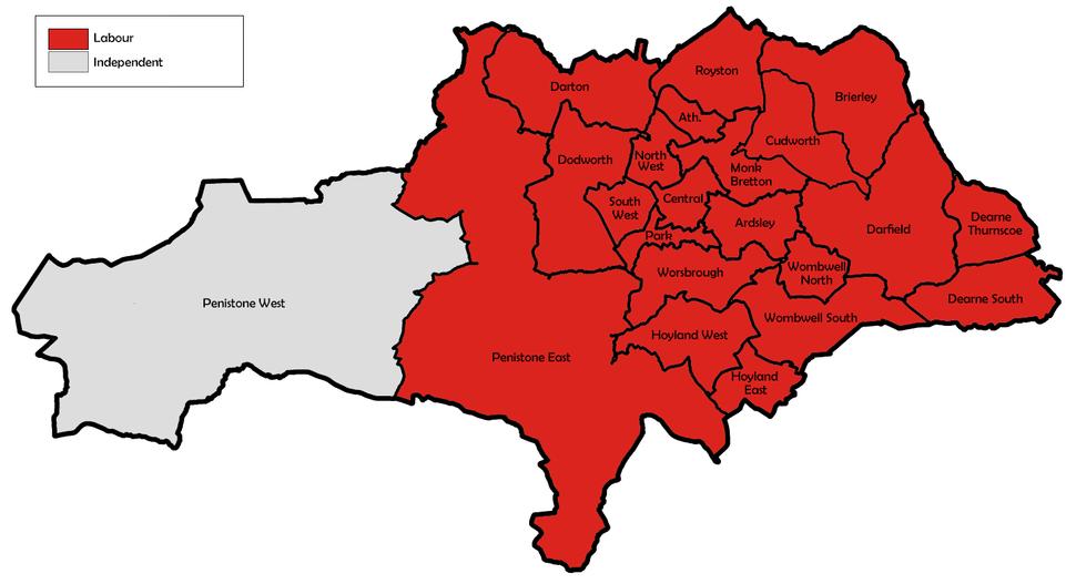 Barnsley UK local election 1998 map
