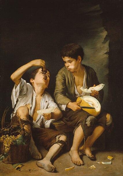 File:Bartolomé Esteban Perez Murillo - Trauben- und Melonenesser.jpg