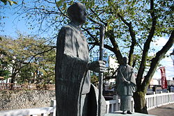 Statuo de Bashō en Ogaki Gifu