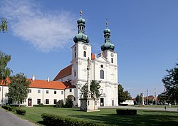 Basilica church with the Franciscan monastery