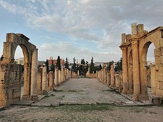 Tebessa Basilica - The central nave of the basilica.