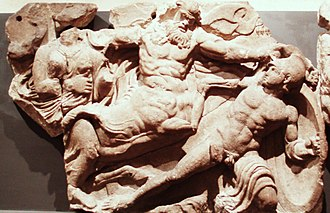 John Foster (architect) - A sample from the Bassae Frieze that Foster brought to England