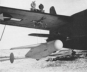 ASM-N-2 Bat - A Bat on its hoist