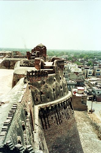 Qila Mubarak - View from top terrace of Fort, June 2003; (photo: G. S. Bhalla; click for larger view)