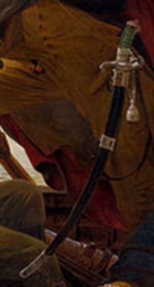 John Bailey (cutler) - Detail of Leutze's Washington Crossing the Delaware, showing a representation of the Battle Sword