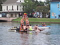 Bayou St John 4th of July NOLA 2012 Dive Ladder Paddle Boat.JPG