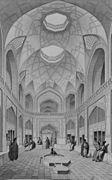 Bazar Haji Seid Hussein Kashan by Pascal Coste