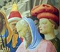 Beato angelico, pala strozzi della deposizione, con cuspidi e predella di lorenzo monaco, 15.JPG
