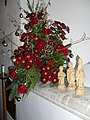 Beautiful Christmas flowers within St Peter and St Mary, Fishbourne - geograph.org.uk - 1636802.jpg