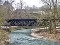 Beim 366 km langen Neckartalradweg, Eisenbahnbrücke über den Neckar der Strecke Stuttgart - Schafhausen - panoramio.jpg