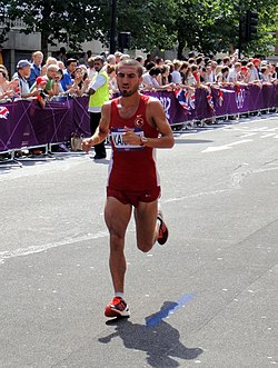 Bekir Karayel (Turkey) - London 2012 Mens Marathon.jpg