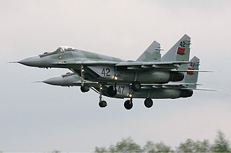 Belarusian Air Force - A pair of MiG-29's on final approach