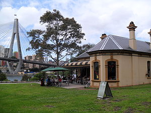 Blackwattle Bay - Image: Bellevue House Blackwattle Cafe
