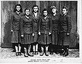 Belsen camp guards (L-R) Charlotte Klein, Lisbeth Fritzner, Hilde Lisiewitz, Herta Ehlert, Rosina Schieber, Elisabeth Volkenratrh (16925409945).jpg