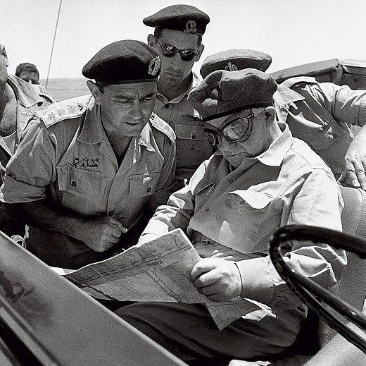 Ben Gurion Pundak Zeevi 1956