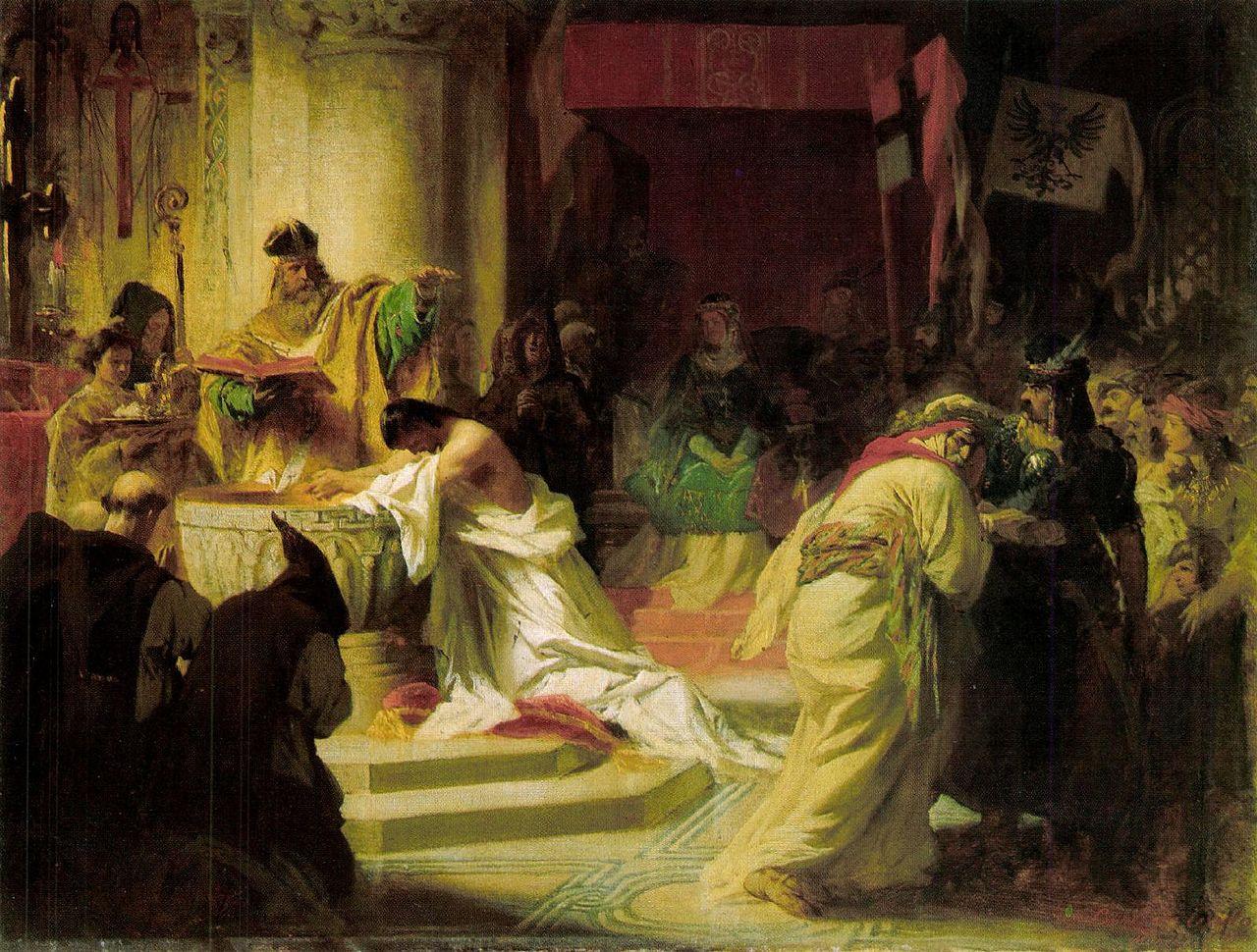 Benczúr The Baptism of Vajk 1870.jpg