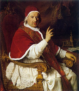 Pope Benedict XIV - Oil painting by Pierre Subleyras