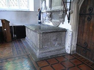 Thomas de Berkeley, 5th Baron Berkeley - Image: Berkeley Tomb Wootton