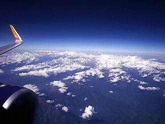 Transport in Bhutan - Image: Bhutan from above