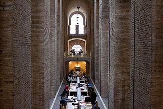 Pompeu Fabra University - 'Dipòsit de les Aigües' Library, located at UPF Ciutadella Campus, Barcelona