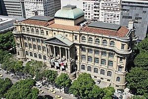 National Library of Brazil - Aerial view of the library