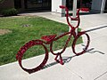 Bicycle art on campus of North Idaho College in Couer d' Alene (4936782703).jpg