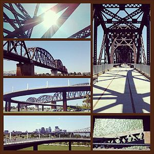 Big Four Bridge - The Big Four Bridge from various angles in May 2013
