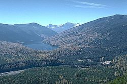 The Bob Marshall Wilderness Complex makes up a large fraction of the Flathead National Forest.